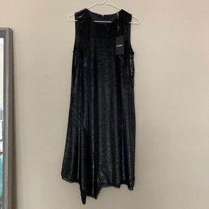 NWT Elie Tahari Serenity Metallic Sleeveless Dress